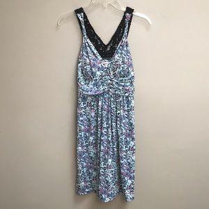 Candies Blue Pink Sleeveless Dress Size M